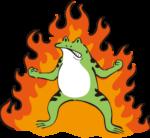 カエル_燃える