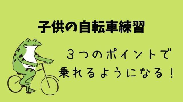 子供の自転車練習_3つのコツ