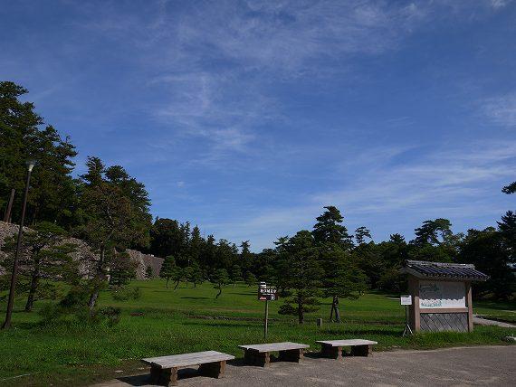 松江城の緑