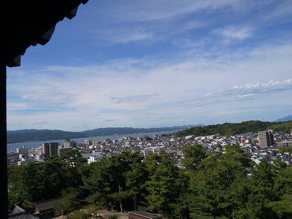 松江城_最上階からの景色1