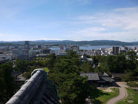 松江城_天守閣からの景色2