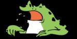 カエル_訴える