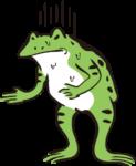カエル_腹痛