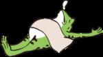 カエル_寝る