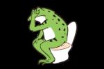 カエル_トイレ