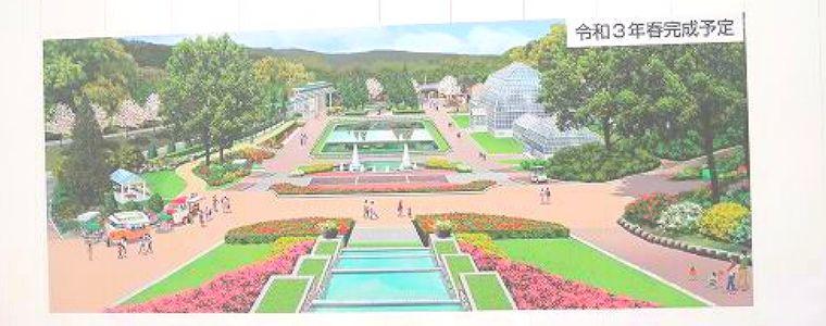 植物園の完成予想図