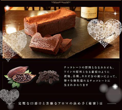 テリーヌ・ドゥ・ショコラ_ヴァローナ社の最高級チョコレート使用