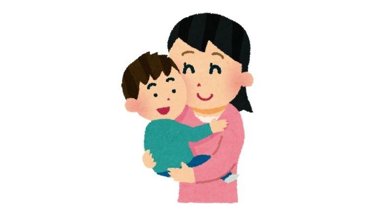 子供を抱っこするお母さん