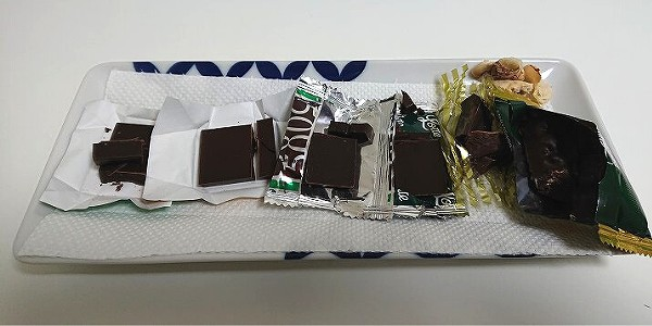 高カカオチョコレート食べ比べ