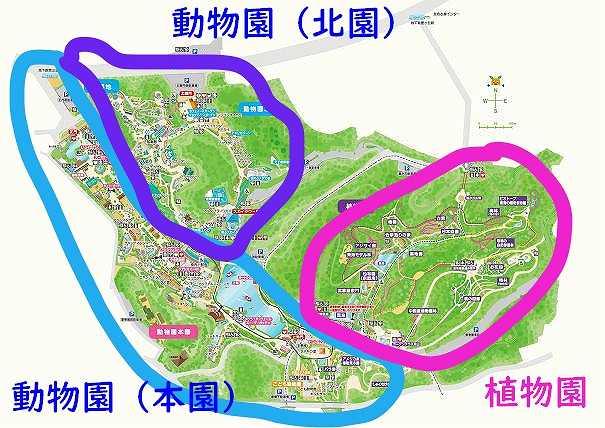 東山動物園のマップ