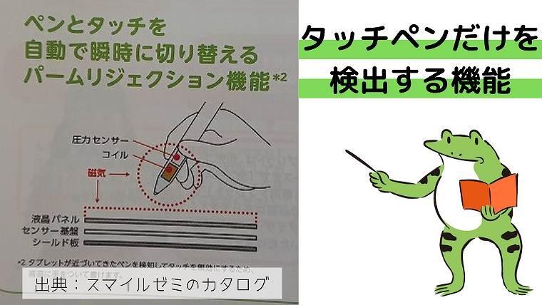 スマイルゼミ_タッチペンだけを検出する機能