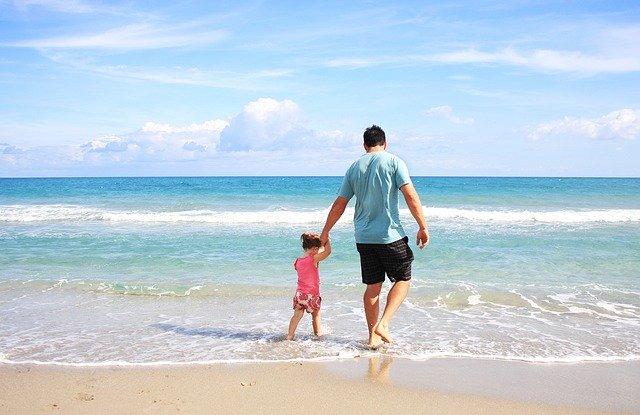 お父さんと娘のいる風景