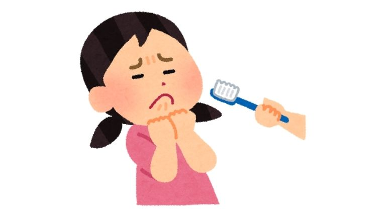 子供が歯磨きを嫌がる顔